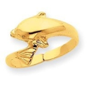 14k Yellow Gold Dolphin Toe Ring. Gold Weight- 1.13g.