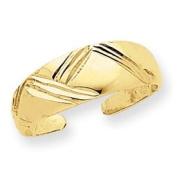 14k Fancy Toe Ring - JewelryWeb