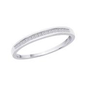 10K White Gold, Princess Cut Diamond Wedding Band
