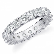 14K White Gold Shared-Prong Diamond Wedding Anniversary Eternity Band (4.0 cttw, H-I Colour, SI1-SI2 Clarity) RING SIZE 8.5