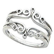 Elegant and . All Metal Ring Guard in 14K White Gold ( Size 6 ), 100% Satisfaction Guaranteed.