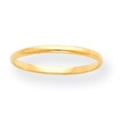 14k Plain Band Childrens Ring - Size 3 - JewelryWeb