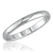 White Gold 2mm Band, Size 6