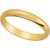 Elegant and . 03.00 MM Half Round Band in 18K Yellow Gold ( Size 5.5 ), 100% Satisfaction Guaranteed.