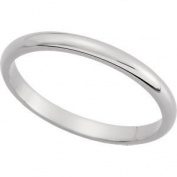 Elegant and . 02.00 MM Half Round Band in Platinum ( Size 4.5 ), 100% Satisfaction Guaranteed.