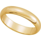 Elegant and . 04.00 MM Half Round Band in 18K Yellow Gold ( Size 9.5 ), 100% Satisfaction Guaranteed.