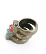Hello Kitty Southwestern 3 Stack Ring