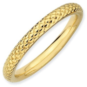 Sterling Silver Stackable Expressions Gold-plated Cable Ring - Size 9 - JewelryWeb
