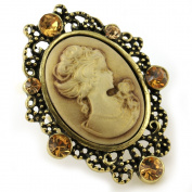 Biggest Brown Cameo Ring Vintage Antique Bronze Tone Adjustable Size Band Designer Women Lady Fashion Jewellery