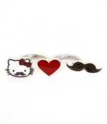 Hello Kitty with Moustache Two Finger Ring