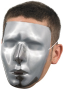 Blank Male Chrome Mask Adult Halloween Accessory