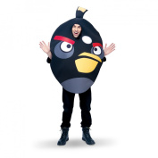 Adult Angry Bird Costume Black - One Size Fits Most