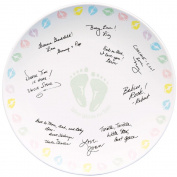Wilton 10031020 Autograph Plate 12 in. x 12 in.-Baby Feet