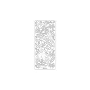 Christmas Ornament Sceneries Peel-Off Stickers-Silver