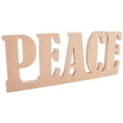 Beyond The Page MDF Peace Standing Word-31cm x 12cm X.13cm