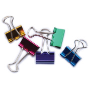 Small Binder Clips .190cm 8/Pkg-Assorted Colours