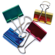 "Large Binder Clips 1-1/4"" 4/Pkg-Assorted Colors"