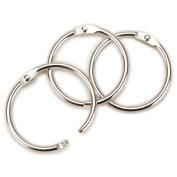 Clear Scraps CHR112 Chrome Book Ring 1.5 100/Bag