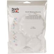 Apple Pie Memories Acrylic Stamp Blocks 4/Pkg-.5 Thick W/Grid:1.75, 2.5, 3.5, 4.5