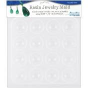 Resin Jewellery Reusable Plastic Mould 15cm - 1.3cm x 18cm -Cabachons 16 Shapes