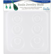 Resin Jewellery Reusable Plastic Mould, 15cm - 1.3cm x 18cm , Earrings, 3 Pairs