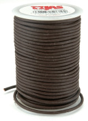 Round Leather Lace 2mm Wide 25 Yard Spool-Brown