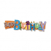 "Birthday Stacked Statement Stickers 6.4cm X10""-"