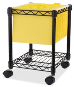 Lorell LLR62950 Compact Mobile Cart- 15-.50in.x14in.x19-.50in.- Black