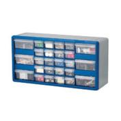Akro-Mils AKM10126 Stackable Cabinet- 26 Drawers- 20in.x6-.38in.x10-1.332in.- Black-Gray