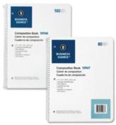 "Wirebound Notebooks,3-Hole,Colg Rule,8-1/2""x11"",100Shts,WE. 8 EA/PK."