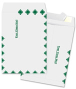 Business Source Open End Document Mailer - 25cm x 38cm - Peel & Seal - Tyvek - 100/Box - White