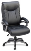 Lorell LLR69516 High-Back Executive Chair- 27in.x30in.x46-.50in.- Black