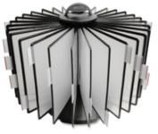 Business Source BSN62888 Deluxe Catalog Display Racks- 20 Documents- Black