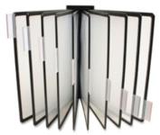 Business Source BSN62889 Basic Catalog Display Racks- 20 Documents- Black