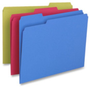 Business Source BSN65779 File Folder- 1-Ply- .33 Cut Assorted Tabs- Letter- BE