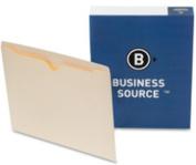 Business Source Flat File Pocket - Letter - 22cm x 28cm - Straight Cut Tab - 100 / Box - 11 pt. - Manila