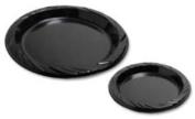 Genuine Joe Plastic Plates, Round, 15.2cm Plate, 125/Pack, Black