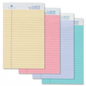 Coloured Pad, Jr. Legal Rule, 50 Sheets, 13cm x20cm , Orchid. 12 EA/PK.