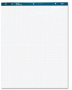 Business Source Quad Easel Pad - 50 Sheet - 6.8kg - Quad Ruled - 70cm x 90cm - 4 / Carton - White Media