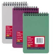"""Memo Books, Poly, 3""""x5"""", 100 Sheets, Assorted. ."""