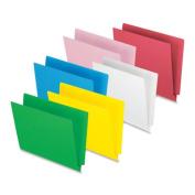 """End Tab File Folder,3/4"""" Exp.,11 pt.,Letter,100/BX,Red. 100 EA/BX."""