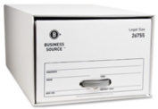 Business Source BSN26755 Storage Drawer- Legal- 15-.50in.x23-.50in.x10-.25in.- 6-CT- WE