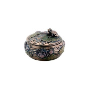 YTC SUMMIT 7858 Frog Sitting on Lily Decoration Art Nouveau Design Jewellery Box - C-24