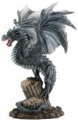 Dragon On Broken Column Figurine