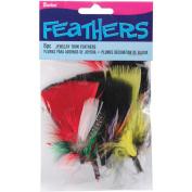 Feathers 6/Pkg-Assorted Jewellery Trim