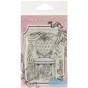 Stampavie PENNYCLR-PEN44 Stampavie Penny Johnson Clear Stamp-La Chaise 3-1-5.1cm .