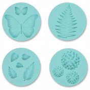 Martha Stewart Crafter's Clay Silicone Moulds 4/Pkg-Garden