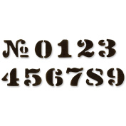 Sizzix Movers & Shapers Repositionable Magnetic Die, Tim Holtz Alterations, Cargo Stencil Numbers