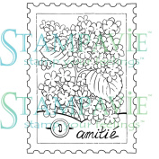 Stampavie PENNYCLR-PEN41 Stampavie Penny Johnson Clear Stamp-A Stamp Of Friendship 3-1-2 in.