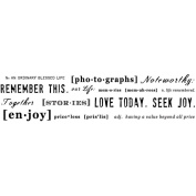 Mounted Rubber Stamp 6.4cm x 8.9cm -Remember This Background